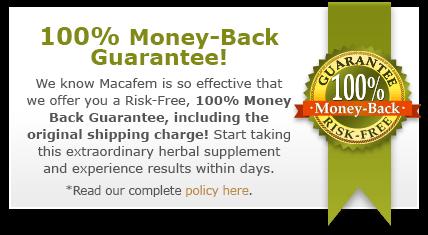 refund policy macafem supplements