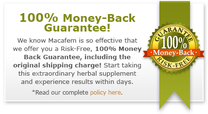 refund policy macafem supplements